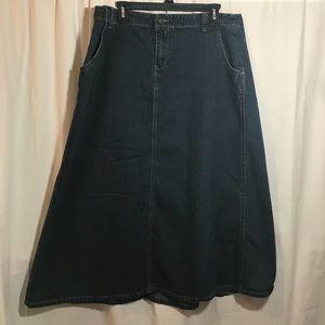 Denim Skirt 18 W